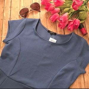 Ambiance Stretchy Casual Blue Dress Size Large